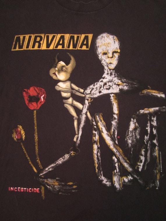 Original NIRVANA vintage 90s TSHIRT Kurt Cobain