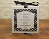 12 Personalized Favor Boxes - Breanne Design in Black - wedding favors, party favors, baby shower favors, bridal shower favors