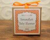 12 Personalized Favor Boxes - Breanne Design in Orange - wedding favors, party favors, baby shower favors, bridal shower favors