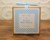 12 Personalized Favor Boxes - Metro Design in Blue - wedding favors, party favors, baby shower favors, bridal shower favors