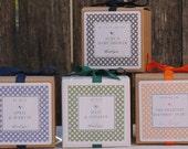 12 Metropolitan Design Personalized Favor Boxes - ANY COLOR - wedding favors, party favors, baby shower favors, bridal shower favors