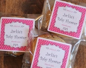 24 Personalized Candy Bags, Cookie Bags - Breanne Design - ANY COLOR - Baby Shower Favor // candy buffet bags, cookie bags, party favors