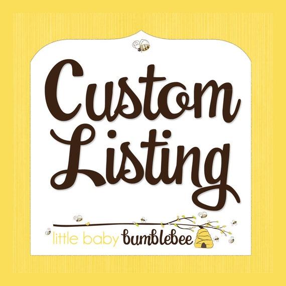 Custom Listing for smarandalawrie