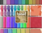 Mega Scrap Pack - solid backdrops - pack of 40