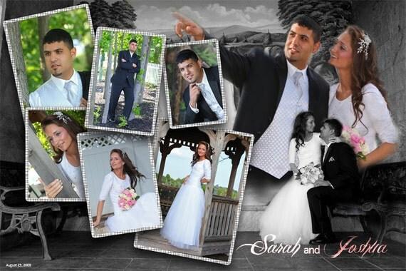 Items similar to Custom Digital Wedding Collage -11x14 print ...