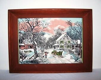 Vintage Picture Winter Scene