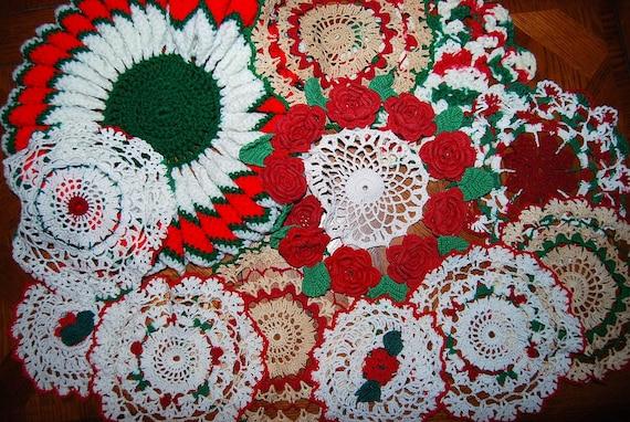 Doily Vintage Christmas  Collection......twelve pieces