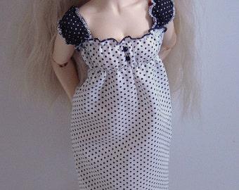 Black & White Polka Dot Dress for MNF/Minifee/Unoa/Slim MSD