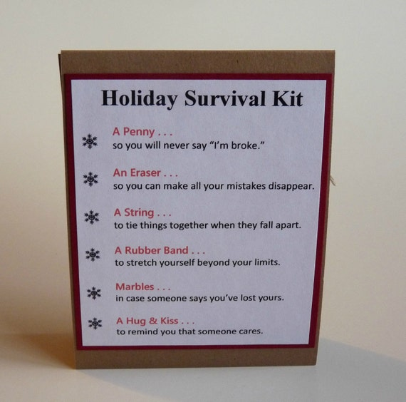 Items similar to Holiday Survival Kit Gift Bag on Etsy