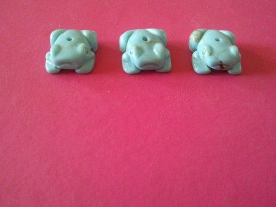 Turquoise Frog Fetish Beads