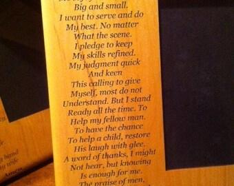 EMT's Prayer 5X7 Frame