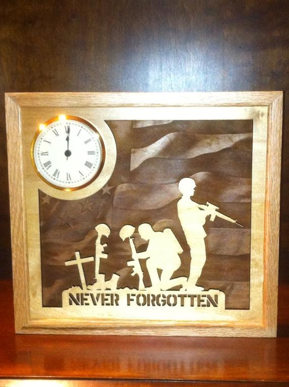 Never Forgotten Wallart and Clock