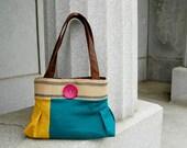 Handbag Purse Everyday bag : Color blocks