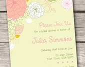 Bridal Shower or Baby Shower Invitations - Customize