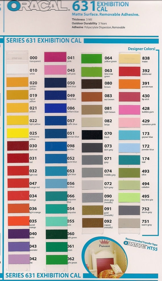 12 sheets --  (12 by 12 inch) of Oracal 631 matte  vinyl  (same as cricut vinyl) NEW COLORS ADDED