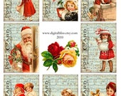Digital Art Sale Design, Download Christmas Postcards, Digital Tags, Instant Download
