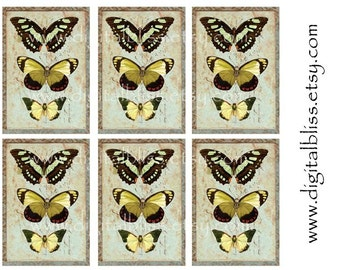 Vintage Tags Digital Download no.107 You Print French Papillion Chic Gift/Hang Tags
