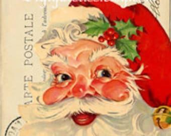 Large Santa Image, Digital download, Vintage Santa Iamge