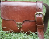 Handmade  Leather Bag/ hand bag/ shoulder bag / purse
