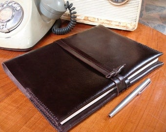B5 The SMART Journal / Diary Cover / Refill /FREE initials / leather journal