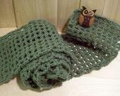 Owl Green Scarf