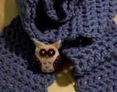 Owl Blue Scarf