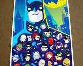 Batman Kawaii fan art poster