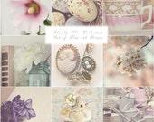 Shabby Chic Photography, Shabby Chic Art, Photography Set, Pastel Shabby Chic Art, Still Life, Nest, Mason Jar, Flowers, Cottage Decor
