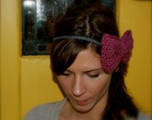 Crocheted Bow Hair Band - The Piper