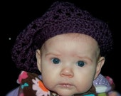 Baby/Toddler/Child Crocheted Slouchy Hippy Hat - The Lauren