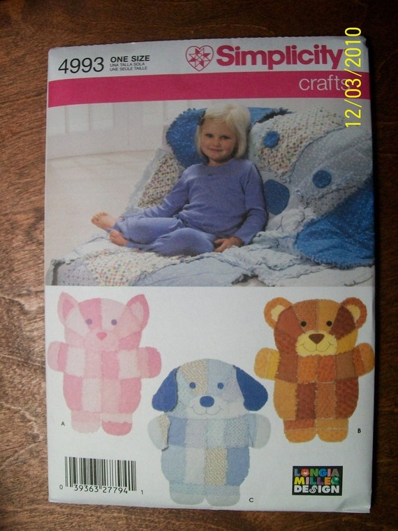 Simplicity Rag Quilts Pattern Bear Dog Cat By Ladybuglb On