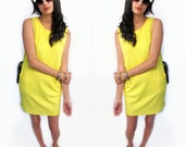 yellow pocket dress