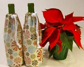 2 Wine Bottle Bags, Red Holiday Candies
