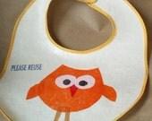 recycled owl bib