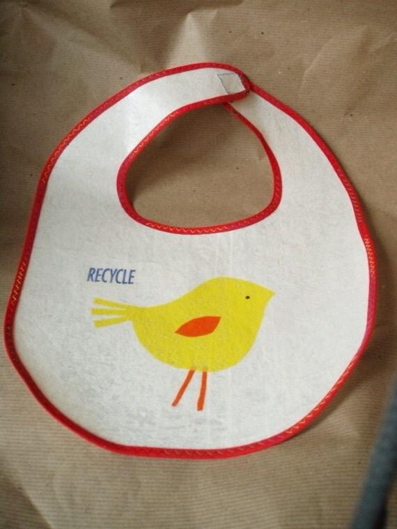 recycled pretty bird bib