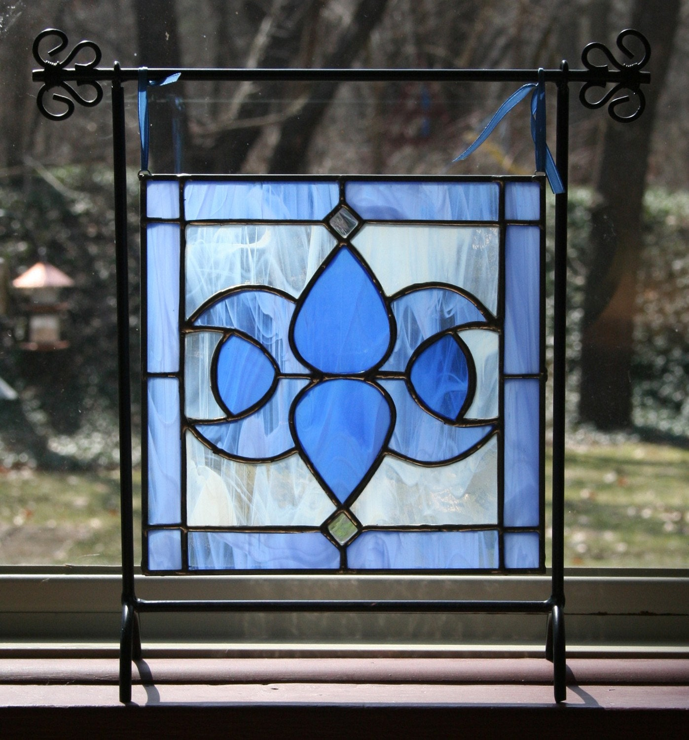 Small Victorian Stained Glass Without Stand