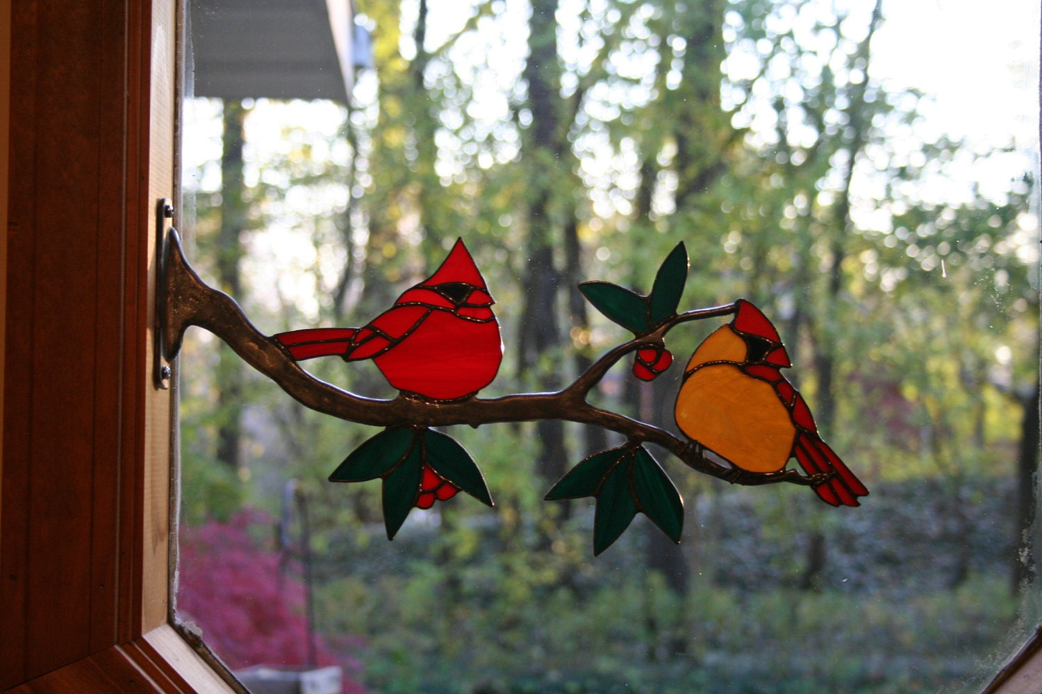 Stained Glass Cardinals