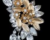 Stunning Opulent Vendome Vintage Flower Brooch