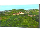 Original Art - Italian Wine Country - International Shipping
