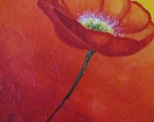 Original Art - Poppy - International Shipping - Showcase Painting