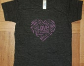 Love Rock T-Shirt (Kids) Tri-Black (Sizes 2, 6, 10)