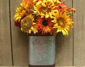RESERVED For NEVELYN S - Sunflower Door Wreath Alternative, Yellow Orange Wreath, Summer Wreaths, Outdoor Door Decor, Double Doors