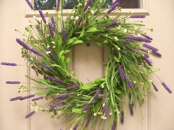 Front Door Wreath - Heather in Bloom XL - Lavender Wreath - Spring Door Decoration