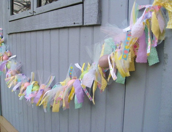 Easter Egg Garland Easter Decorations Easter Ribbon And