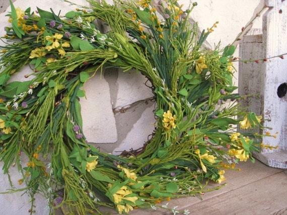 Spring Wreath - Easter Wreath - Easter Decoration - Door Wreath - Floral Wreath - Green Wreath - Front Door Decor