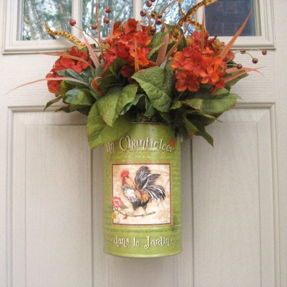 Front Door Wreath Alternative Rooster Decor by AWorkofHeartSA