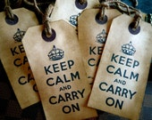 Vintage Inspired Tags - Keep Calm and Carry On