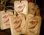 Vintage Inspired Seed Tags - Zucchini