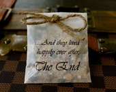 Wedding Bird Seed Send Off Favors - Happily Ever After - Set of 10