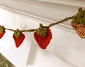 Crocheted Summertime Strawberry Garland